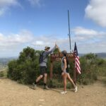 High Fiving at Black Mountain Summit
