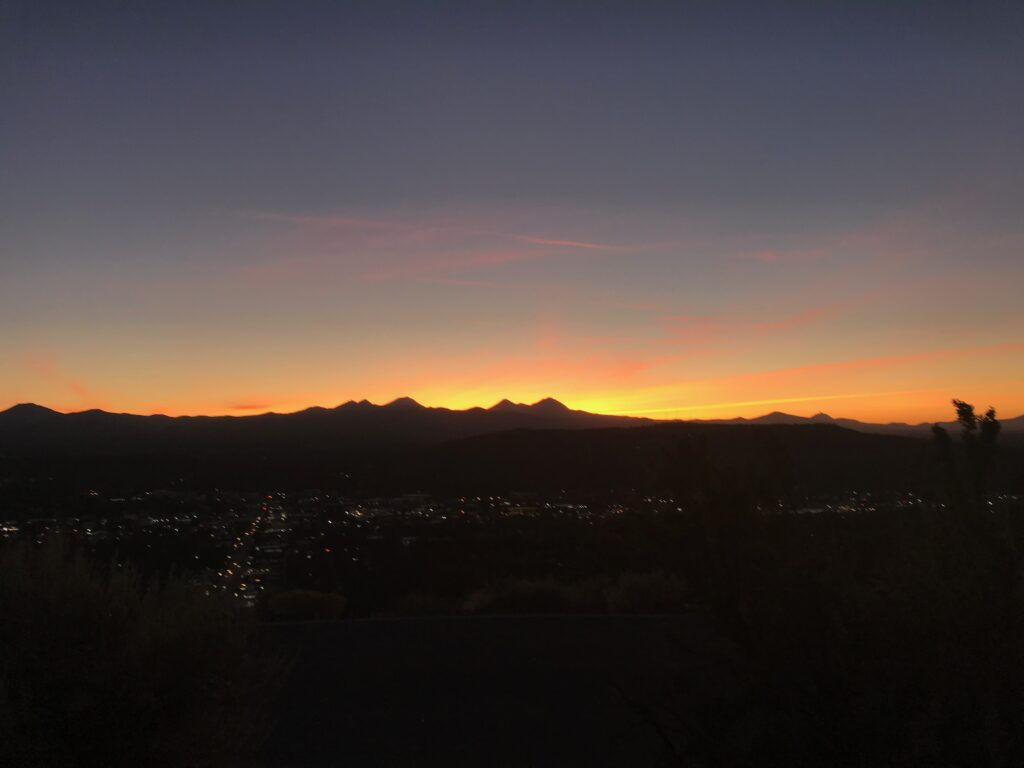 Pilot Butte Sunset in Bend, OR