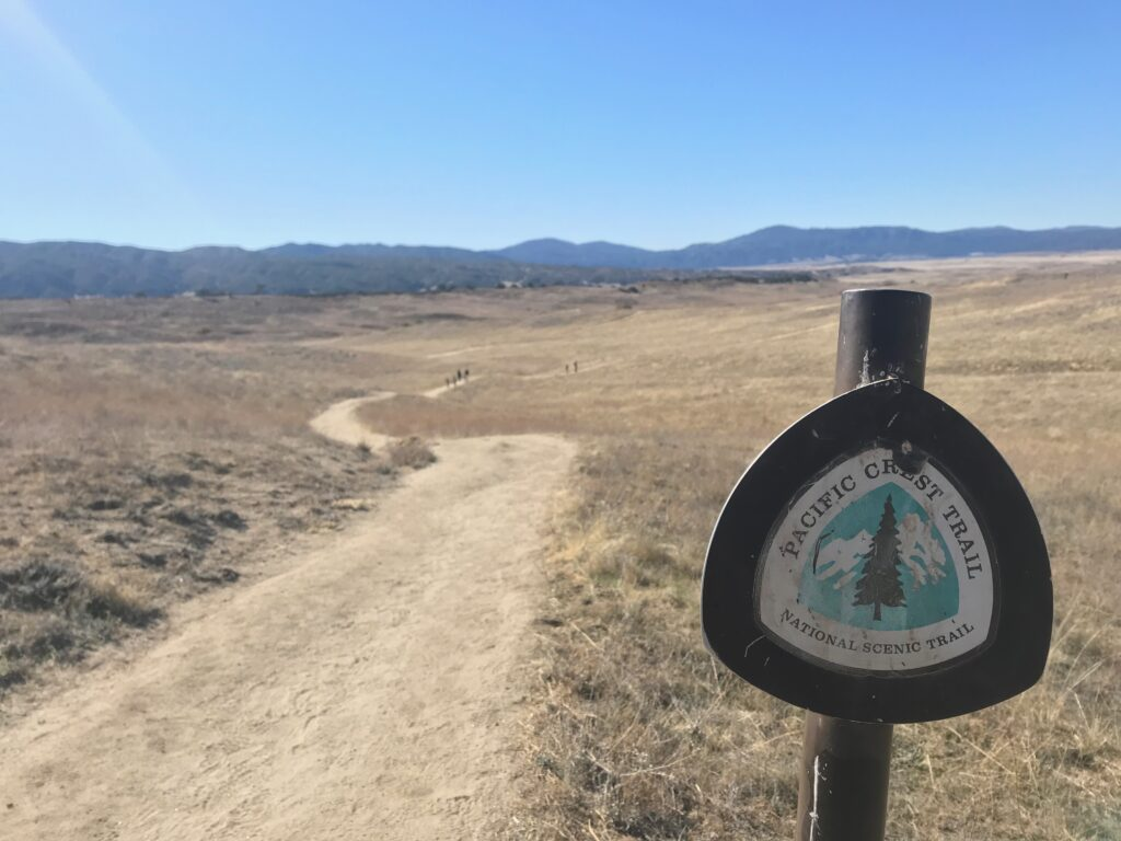 Picture of eagle rock trail markers